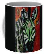 Green Zebra Stripes  Coffee Mug