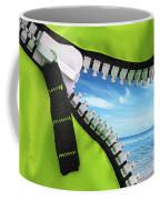 Green Zipper Coffee Mug