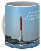 Greetings From The Beautiful New Jersey Shore - Barnegat Lighthouse Coffee Mug