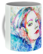 Greta Garbo - Colored Pens Portrait Coffee Mug