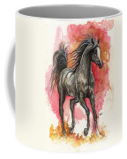 Grey Arabian Horse 2014 01 12 Coffee Mug