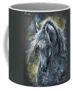 Grey Arabian Horse Oil Painting 2 Coffee Mug