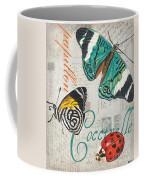 Grey Postcard Butterflies 2 Coffee Mug