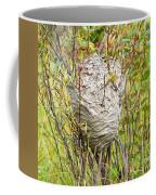 Grey Wasps Nest In Willow Bush Coffee Mug