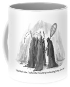 Grim Reapers Stand In A Circle Coffee Mug