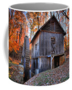 Grist Mill Under Fall Foliage Coffee Mug
