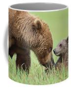 Grizzly Bear And Cub In Katmai Coffee Mug