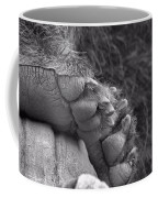 Grizzly Bear Paw Black And White Coffee Mug