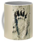 Grizzly Bear Track In Soft Mud. Coffee Mug