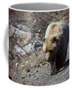 Grizzly By The Road Coffee Mug