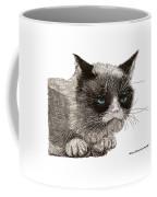Grumpy Pussy Cat Coffee Mug by Jack Pumphrey