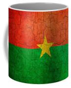 Grunge Burkina Faso Flag Coffee Mug