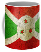 Grunge Burundi Flag Coffee Mug