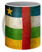 Grunge Central African Republic Flag Coffee Mug