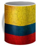 Grunge Colombia Flag Coffee Mug