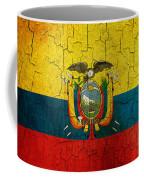 Grunge Ecuador Flag Coffee Mug
