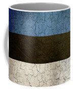 Grunge Estonia Flag Coffee Mug