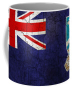Grunge Falkland Islands Flag Coffee Mug
