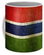 Grunge Gambia Flag Coffee Mug