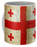 Grunge Georgia Flag Coffee Mug
