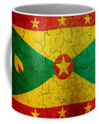 Grunge Grenada Flag Coffee Mug