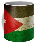 Grunge Jordan Flag Coffee Mug
