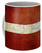 Grunge Latvia Flag Coffee Mug