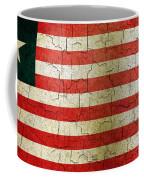 Grunge Liberia Flag Coffee Mug