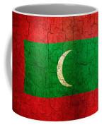 Grunge Maldives Flag Coffee Mug