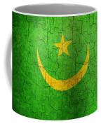 Grunge Mauritania Flag Coffee Mug