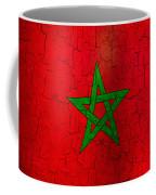Grunge Morocco Flag Coffee Mug