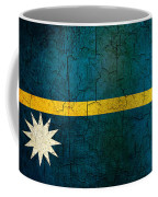 Grunge Nauru Flag Coffee Mug