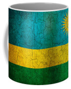 Grunge Rwanda Flag Coffee Mug