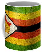 Grunge Zimbabwe Flag Coffee Mug