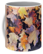 Grungy Autumn Leaves Coffee Mug