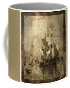 Grungy Historic Seaport Schooner Coffee Mug by John Stephens