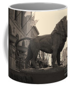 Guarded Lion Statue In Chicago Coffee Mug