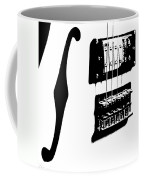 Guitar Graphic In Black And White  Coffee Mug