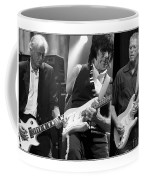 Guitar Legends Jimmy Page Jeff Beck And Eric Clapton Coffee Mug