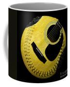 Guitar Yellow Baseball Square Coffee Mug