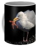 Gull With Starfish Coffee Mug