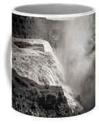 Gullfoss Iceland In Black And White Coffee Mug