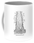 Guy Hugging A Giant Tree And Speaks To It Coffee Mug