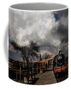 Gwr Steam Train Pulling Into Platform Coffee Mug