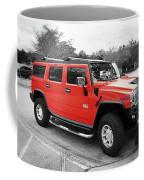 Red Hummer H2 Series  Coffee Mug