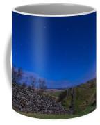 Hadrians Wall Near Walltown At Night Coffee Mug