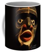 Haida Carved Wooden Mask 5 Coffee Mug