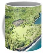 Aerial View Hale O Pi'ilani Heiau Honomaele Hana Maui Hawaii  Coffee Mug