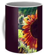 Half Of A Sunflower Coffee Mug