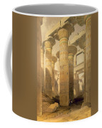 Hall Of Columns, Karnak, From Egypt Coffee Mug by David Roberts